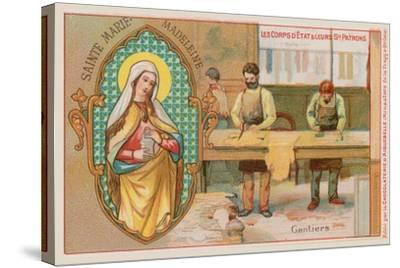 Mary Magdalene, Patron Saint of Glove Makers--Stretched Canvas Print
