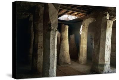 Egypt, El-Moa'Alla, Tomb of Ankhtifi Interior--Stretched Canvas Print