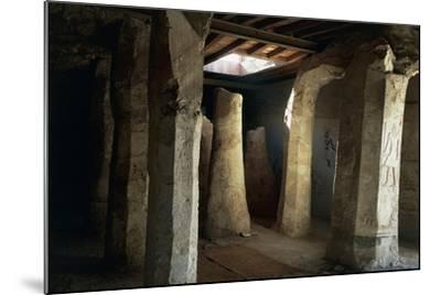 Egypt, El-Moa'Alla, Tomb of Ankhtifi Interior--Mounted Giclee Print