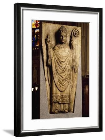 High-Relief Set on Throne, Basilica of Sant'Abbondio, Como, Italy, 11th-16th Century--Framed Giclee Print