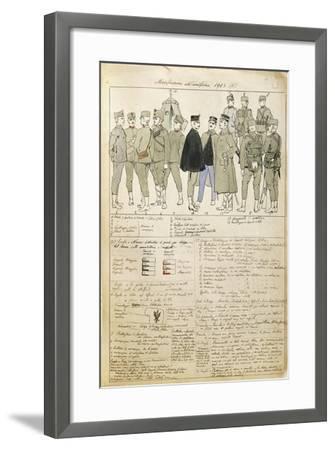 Uniform Variations of Kingdom of Italy, 1913--Framed Giclee Print