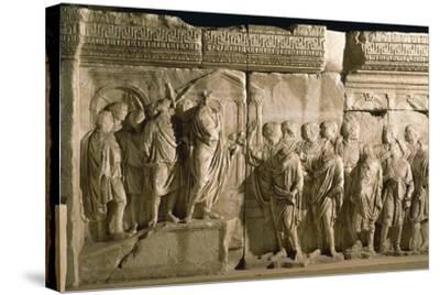 Model of Trajan's Column--Stretched Canvas Print