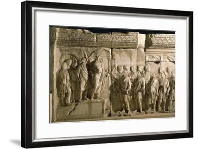 Model of Trajan's Column--Framed Giclee Print