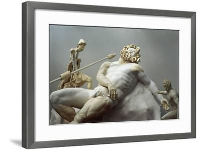 Detail of the Blinding of Polyphemus, Roman Copy after an Hellenistic Statuary Group--Framed Giclee Print