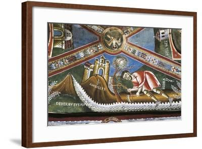 Life of St. Nicholas of Bari, Detail from Cycle of Frescoes, St. Eldrado Chapel--Framed Giclee Print