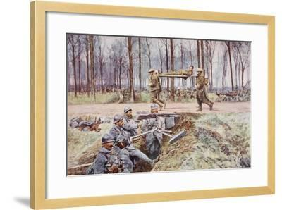 Blue and Khaki: at the Linking of the Lines--Framed Giclee Print