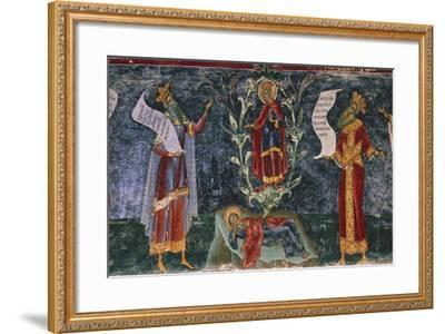 Romania, Sucevita Monastery, Tree of Jesse, Detail from the Cycle of Frescoes--Framed Giclee Print