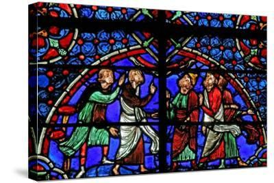 Window W3 Depicting Discussion Re the Cana Marriage--Stretched Canvas Print