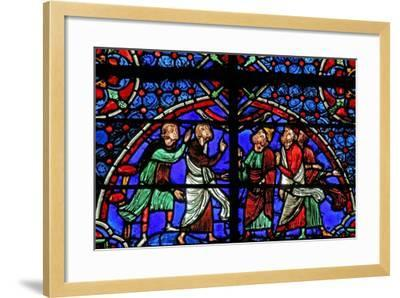 Window W3 Depicting Discussion Re the Cana Marriage--Framed Giclee Print