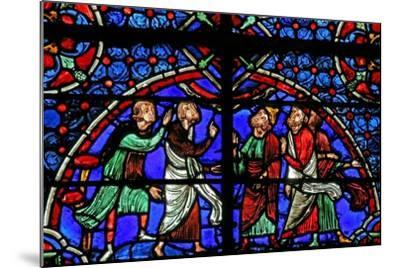 Window W3 Depicting Discussion Re the Cana Marriage--Mounted Giclee Print