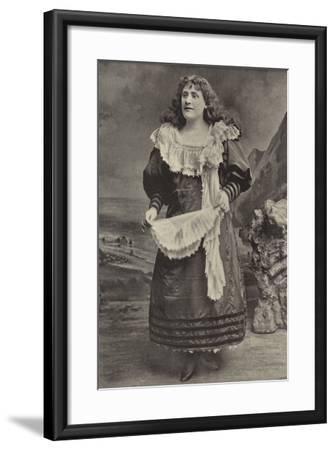 "Miss Georgina Preston, as Polly Perkins in ""Robinson Crusoe,"" Grand Theatre, Islington--Framed Photographic Print"