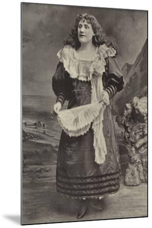 "Miss Georgina Preston, as Polly Perkins in ""Robinson Crusoe,"" Grand Theatre, Islington--Mounted Photographic Print"