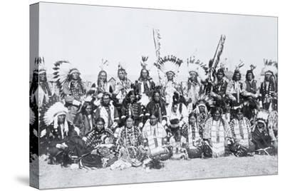 Sioux Indians, Pine Ridge, South Dakota, C.1910--Stretched Canvas Print