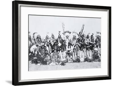 Sioux Indians, Pine Ridge, South Dakota, C.1910--Framed Photographic Print