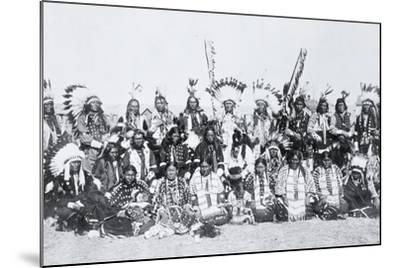 Sioux Indians, Pine Ridge, South Dakota, C.1910--Mounted Photographic Print