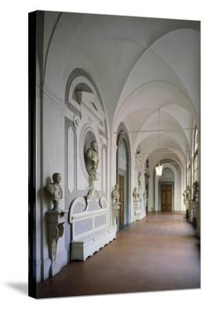 Cloister Within Villa Del Poggio Imperiale--Stretched Canvas Print