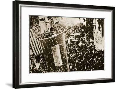 End of the War: New York, 1918--Framed Photographic Print