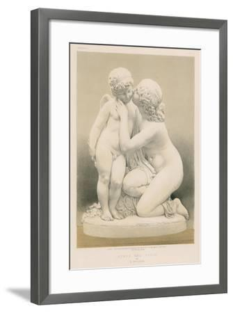 Nymph and Cupid by E Muller--Framed Giclee Print