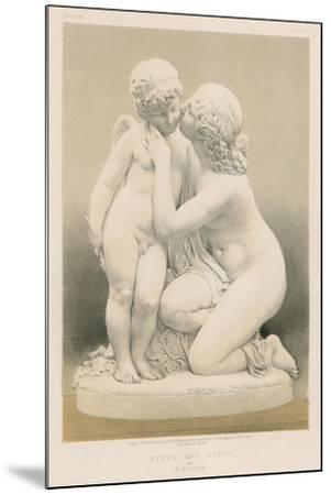 Nymph and Cupid by E Muller--Mounted Giclee Print