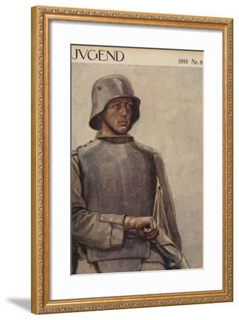 German Soldier, World War I--Framed Giclee Print