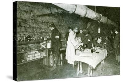 Dressing-Station in the Casemates of Douaumont Fort, C.1916--Stretched Canvas Print