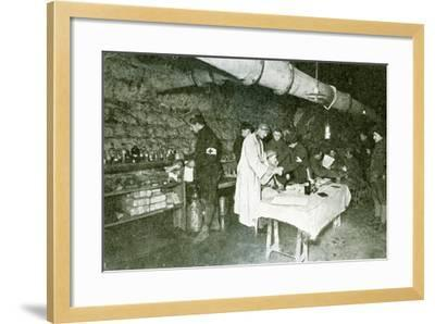 Dressing-Station in the Casemates of Douaumont Fort, C.1916--Framed Photographic Print
