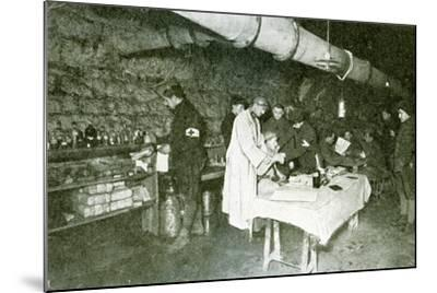 Dressing-Station in the Casemates of Douaumont Fort, C.1916--Mounted Photographic Print
