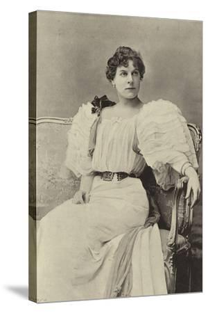"""Miss Jessie Millward, as Margaret Marrable, in """"The Fatal Card""""--Stretched Canvas Print"""