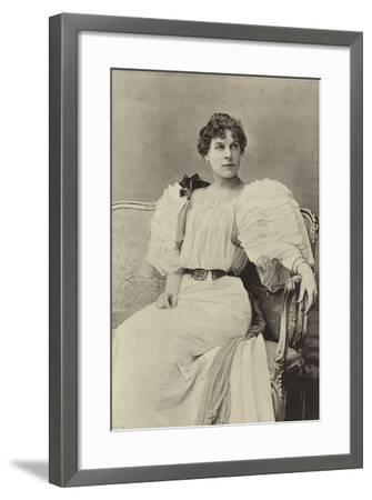 """Miss Jessie Millward, as Margaret Marrable, in """"The Fatal Card""""--Framed Photographic Print"""