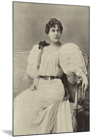 """Miss Jessie Millward, as Margaret Marrable, in """"The Fatal Card""""--Mounted Photographic Print"""