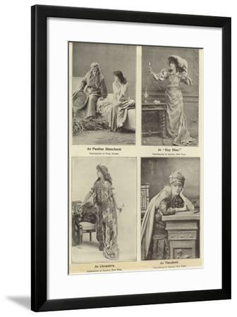 Madame Sara Bernhardt in Some of Her Characters--Framed Photographic Print
