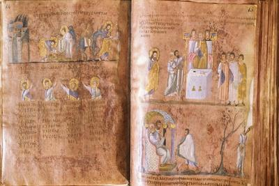 Illuminated Page, Miniature from the Gospels Called Rossanensis--Framed Giclee Print
