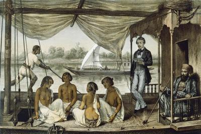 Women from Lony in Sudan from Journal of Travels in Oriental Sudan, 1850--Framed Giclee Print