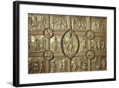Pala D'Oro Altar in Aachen Cathedral, Detail Representing Different Biblical Scenes and Pantocrator--Framed Giclee Print