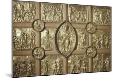Pala D'Oro Altar in Aachen Cathedral, Detail Representing Different Biblical Scenes and Pantocrator--Mounted Giclee Print