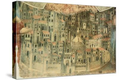 Our Lady of Mercy Church in Florence, 1352, Italy, Detail--Stretched Canvas Print