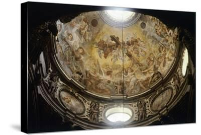 Interior of Dome of Lecce Cathedral, Apulia, Italy--Stretched Canvas Print
