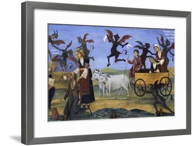 Fresco of the Porch, Rila Monastery--Framed Photographic Print