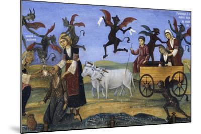 Fresco of the Porch, Rila Monastery--Mounted Photographic Print