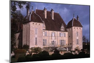 France, Rhône-Alpes, Filain Castle--Mounted Giclee Print