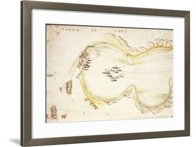 Gulf of Suez, Egypt, from Nautical Charts by Joao De Castro, 1538--Framed Giclee Print