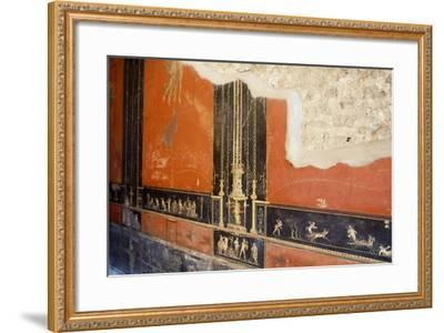 Wall Painted Red with Friezes Depicting Cupids, House of Vettii, Pompeii--Framed Photographic Print