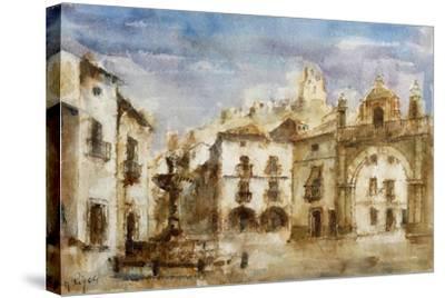 Set Design for 'The Barber of Seville'--Stretched Canvas Print