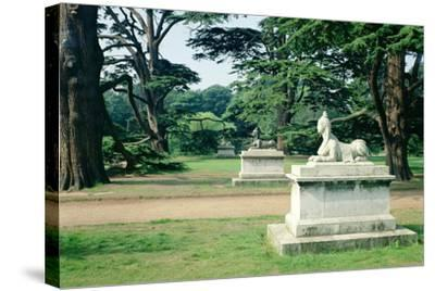 Chiswick Gardens, Middlesex, View of the Sphinx--Stretched Canvas Print
