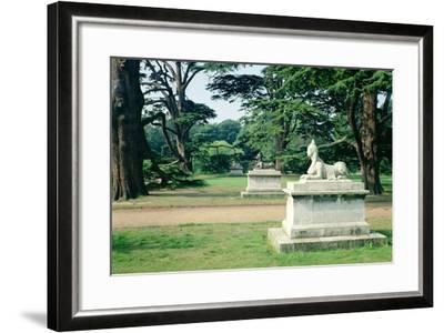 Chiswick Gardens, Middlesex, View of the Sphinx--Framed Photographic Print