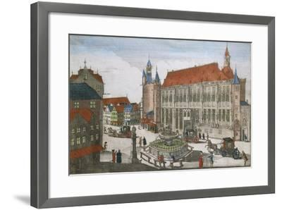 Germany, Aachen, Square with Town Hall and Karlsbrunner, 1701--Framed Giclee Print