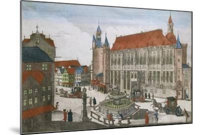 Germany, Aachen, Square with Town Hall and Karlsbrunner, 1701--Mounted Giclee Print