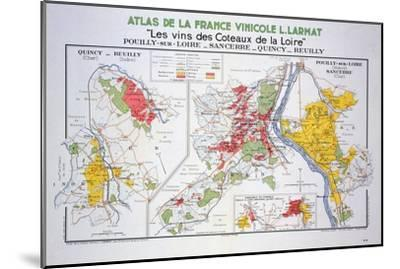 Map of the Loire Region: Pouilly-Sur-Loire--Mounted Giclee Print