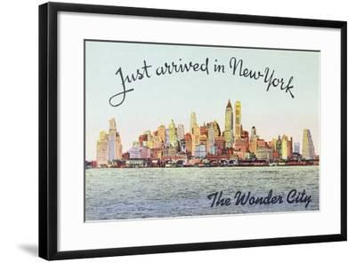 Just Arrived in New York' American Postcard--Framed Giclee Print