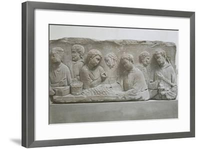 Germany, Neumagen-Dhron, Funerary Stele Depicting a Scene of Tax Payment--Framed Giclee Print